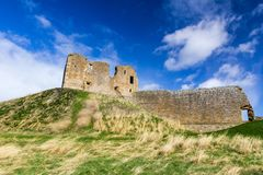 Duffus Castle ruins royalty free stock images