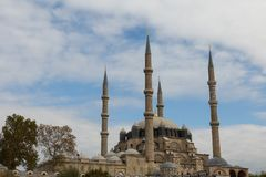 The 16th century Selimiye mosque. View of the 16th century imperial Selimiye mosque in Edirne, Turkey stock photography