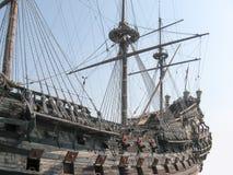 15th century ship. Galleon, 15th century ship, faithful reconstruction Stock Image