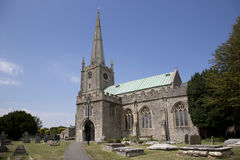 13th century somerset church Stock Photo
