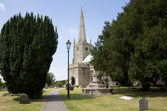 13th century somerset church. 13 th century church in a Somerset village, England Royalty Free Stock Photo