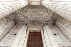18th century St Paul Cathedral, details of the entrance, London,United Kingdom Stock Photography