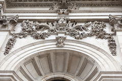 18th century St Paul Cathedral, details, London, United Kingdom. Royalty Free Stock Photo