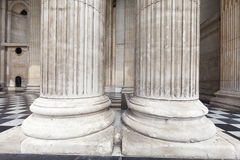 18th century St Paul Cathedral, majestic columns, London, United Kingdom Stock Image