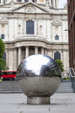 18th century St Paul Cathedral, street view, London, United Kingdom Royalty Free Stock Image