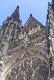 14th century St. Vitus Cathedral , facade, Prague, Czech Republic Stock Photo