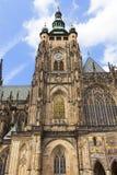 14th century St. Vitus Cathedral , facade, Prague, Czech Republic. Stock Photos