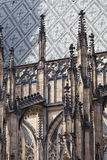 14th century St. Vitus Cathedral , facade, Prague, Czech Republic. It is a Roman Catholic metropolitan cathedral in Prague, the seat of the Archbishop of Stock Images