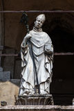 14th century statue of a bishop, Cremona, Italy Royalty Free Stock Photography