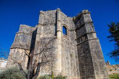 12th century Templar Church at the Convent of Christ  in Tomar-. Portugal Royalty Free Stock Images