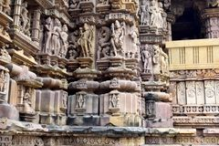 Temple town of Khajuraho Royalty Free Stock Image