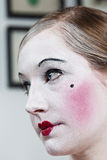 18th century theatrical make-up girl Stock Photos