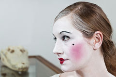 18th century theatrical make-up girl Royalty Free Stock Image