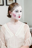 18th century theatrical make-up girl Stock Images