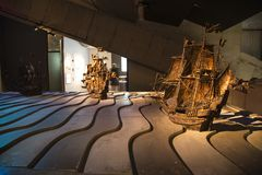 17th century vasa ship replica at vasa museum interior design royalty free stock image
