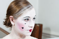 18th century vintage make-up girl Stock Photos