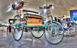 19th century vintage three wheeled car stock images