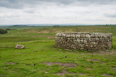 19th Century well at Housesteads Roman Fort. Hadrian`s Wall, Northumberland Stock Photography