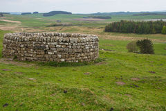 19th Century well at Housesteads Roman Fort. Hadrian`s Wall, Northumberland Royalty Free Stock Photo