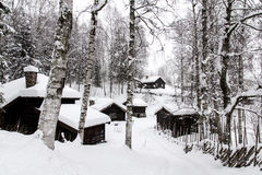 19th century wooden houses in Norway Stock Photos