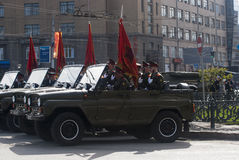 2009 64th ceremoniella tilldelade store ii för 9 årsdag kan ståta den patriotiska fyrkanten till segervladimir kriger världen Royaltyfri Bild