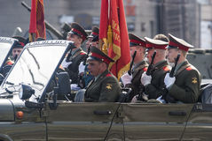 2009 64th ceremoniella tilldelade store ii för 9 årsdag kan ståta den patriotiska fyrkanten till segervladimir kriger världen Arkivfoto