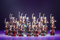 The 10th China art festival dance competition - the girls dance competition, Korean. The 10th China art festival dance competition held in shandong province on Stock Photos
