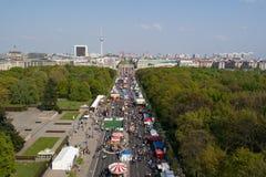 17th Czerwiec ulica i Brandenburg brama, Zdjęcia Royalty Free