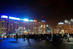 21th day of protest, Bucharest, Romania Stock Photography