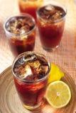 Thé de citron de glace Photographie stock
