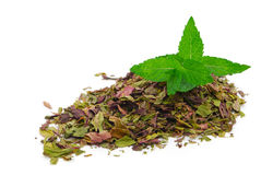 Thé de fines herbes de menthe poivrée Photographie stock