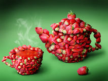 Thé de fraises Photos libres de droits