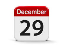 29th December. Calendar web button - The Twenty Ninth of December - Constitution Day in Ireland, three-dimensional rendering, 3D illustration Stock Photography