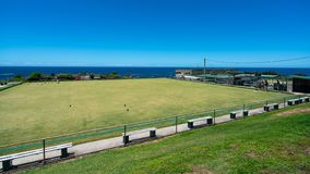 Lawn bowls bowling green at Clovelly bowling club in Sydney NSW Australia stock photo