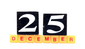 25th december Royalty Free Stock Photography