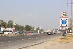 Lagos traffic at Lekki- Epe expressway, Lagos Nigeria. 15TH December, 2018, Lagos Nigeria. Triffic Gridluck, regular triffic buit-up during christmas festive stock photo