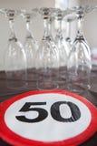 50th decoração do aniversário Imagens de Stock
