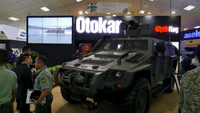 15th Defence Services Asia Exhibition 2016. KUALA LUMPUR, MALAYSIA - APRIL 20, 2016: Otokar from Turkey show his tank in 15th Defence Services Asia Exhibition Royalty Free Stock Images