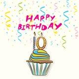 10th design för födelsedaghälsningkort Royaltyfri Fotografi