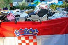 50th dias da cultura 'de Kaj', Krapina 2015, feira da ladra, 2 Foto de Stock