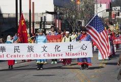 115th Dragon Parade dorato, nuovo anno cinese, 2014, anno del cavallo, Los Angeles, California, U.S.A. Fotografia Stock Libera da Diritti