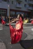 115th Dragon Parade dourado, ano novo chinês, 2014, ano do cavalo, Los Angeles, Califórnia, EUA Imagens de Stock Royalty Free