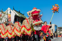 115th Dragon Parade dourado anual Foto de Stock