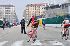 12th edition of Turin's City trophy of triathlon Royalty Free Stock Photography