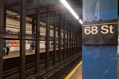 68th estação de metro da rua Fotografia de Stock