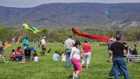 19th ettårig växt blåa Ridge Kite Festival Fotografering för Bildbyråer