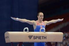 5th Europejscy mistrzostwa w Artystycznych gimnastykach fotografia stock