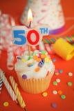 50th födelsedag Royaltyfria Bilder