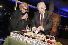 90th födelsedag av den berömda polska filmdirektören Andrzej Wajda Fotografering för Bildbyråer
