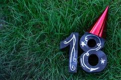 18th födelsedagbegrepp Arkivbild